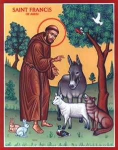 Католиците почитат днес Свети Франциск от Азиси. Свети Франциск е роден на 24 юни 1182 г. в Асизи, Сполето, починал е на 3 октомври 1226 г., на 44-годишна възраст), произхожда от заможна фамилия на търговци. След като се отказва от родовото богатство, той се стреми през целия си кратък живот към бедността и милосърдието към бедните. Следвай ме - Вяра