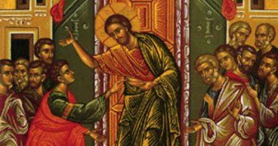 На Томина неделя, първата след Великден, се споменава случаят с неверието на апостол Тома. Той не бил там, където Господ Иисус Христос се явявал на останалите свои ученици и първоначално не повярвал в разказите им за Неговото появяване. Затова, Той го призовал не само да повярва, но и да пипне раните му от кръста, за да се убеди. Слудвай ме - Вяра
