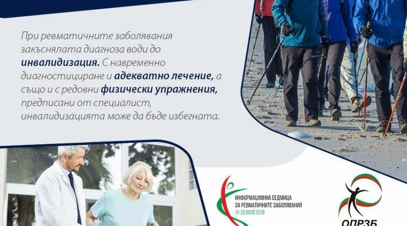 Седмица за информираност за ревматичните заболявания ще се проведе от 14 до 20 май 2018 година.э Следвай ме - Здраве