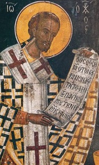 Св. Йоан Златоуст е светителят на Източната, сравним по изказ и сила на напсаните теологически трудове само с блажений Августин от Западната Църква от времето преди нейното разделянето на Цъквата (1056 г.) Следвай ме - Вяра