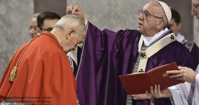 Великите пости са време да се завърнем при Господ Проповед на папа Франциск на Пепеляна сряда в началото на поста за католиците. Следвай ме - Вяра