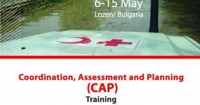 От 6 до 15 май 2019 г. в Националния учебен център на БЧК в Лозен представители на 24 национални дружества на Червения кръст и Червения полумесец ще участват в Глобално обучение за координация, оценка и планиране по време на бедствия. Следвай ме - Общество