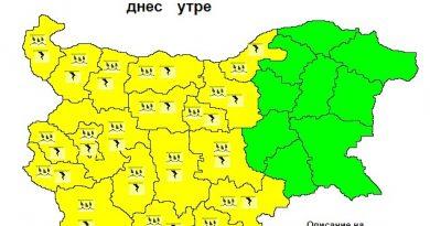 Жълт код за дъждове и гръмотевици в 19 области Следвай ме - Общество