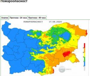Опасност от пожари в 4 области на 17 август Седмицата започва с температури между 27 и 32 °C Следвай ме - Общество
