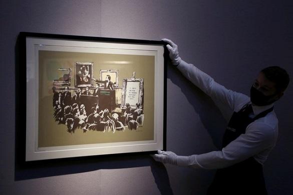 Тайнственият Банкси продава по-скъпо от Пикасо в пандемията Славата на стрийт художника расте, но отново унищожават творбите му Следвай ме - Култура